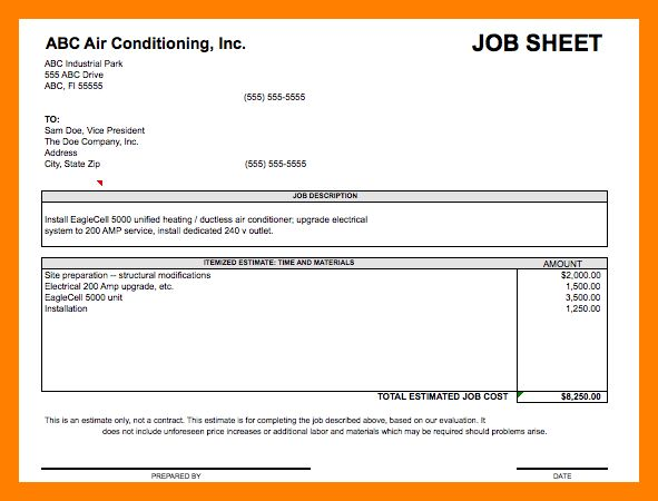 Electrical Job Sheet Template Choice Image Template Design Ideas