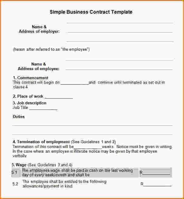 Simple Business Contract Simple Contract Template Peerpex, 19 - sample business agreements