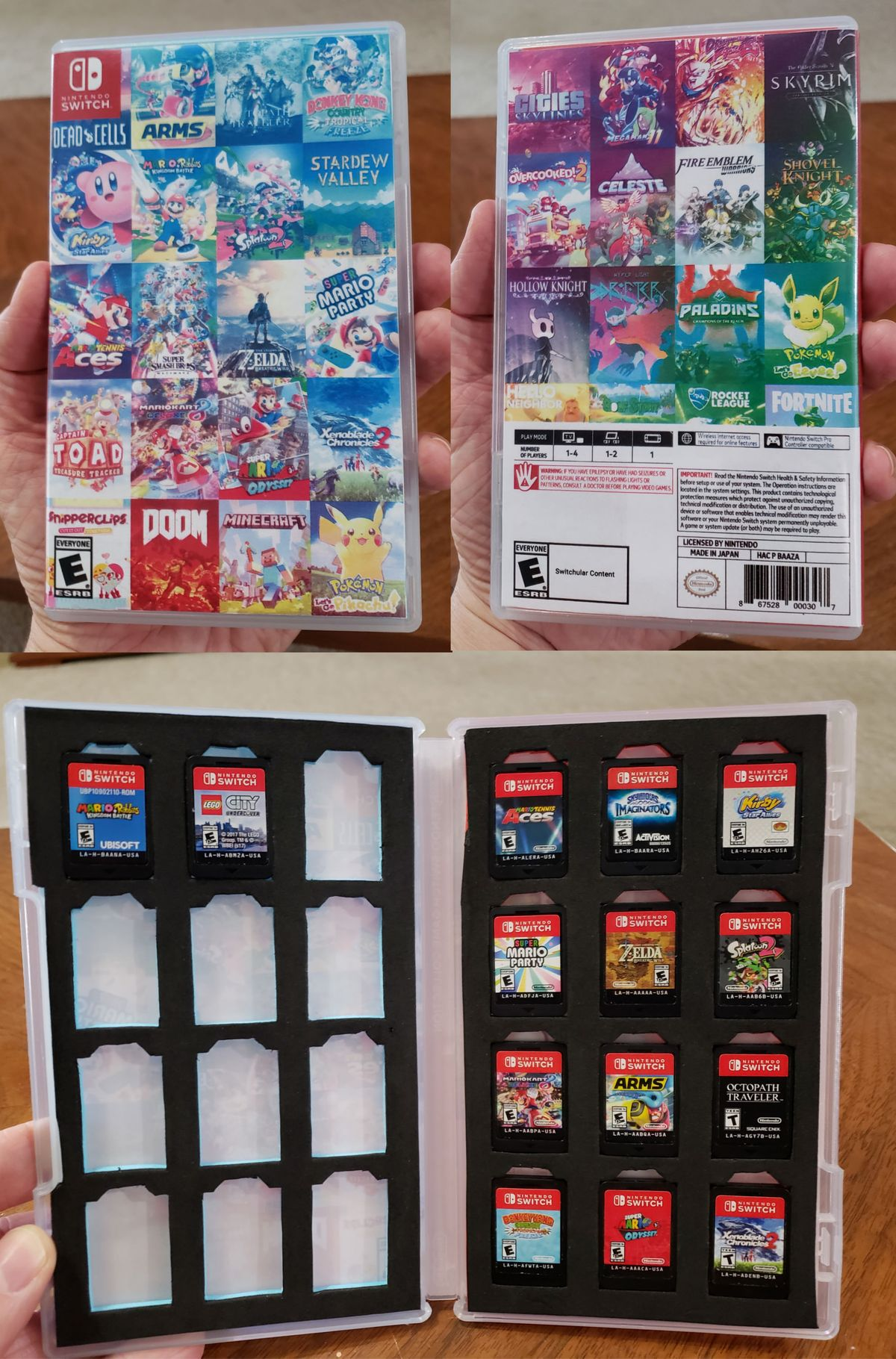 Post with 2582 votes and 127286 views. Tagged with diy, video games, staff picks, nintendoswitch; Shared by MrJspeed. Modify your Nintendo Switch game case to hold up to 24 games