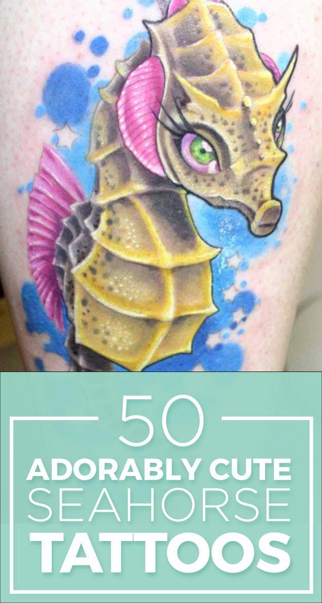 Seahorse Tattoo Ideas & Designs