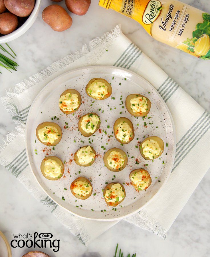RENÉE'S Honey Dijon-Potato Salad Bites #recipe