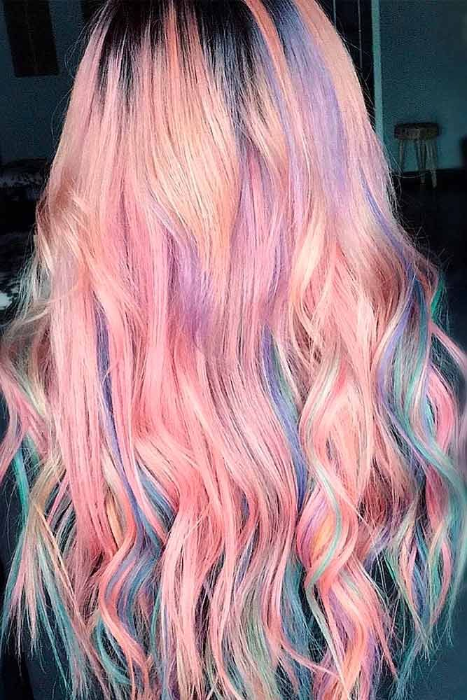 Pastel Mermaid Hair #mermaidhair #colorfulhair ★ Pink hair color is full of surprises. Moreover, it can be different; as different as you want! Dive in to see the latest rose ideas. Besides hot bright highlights for long hair and pastel ombre for short locks, we've prepared a little product review for your successful DIY coloring! #glaminati #lifestyle #pinkhair