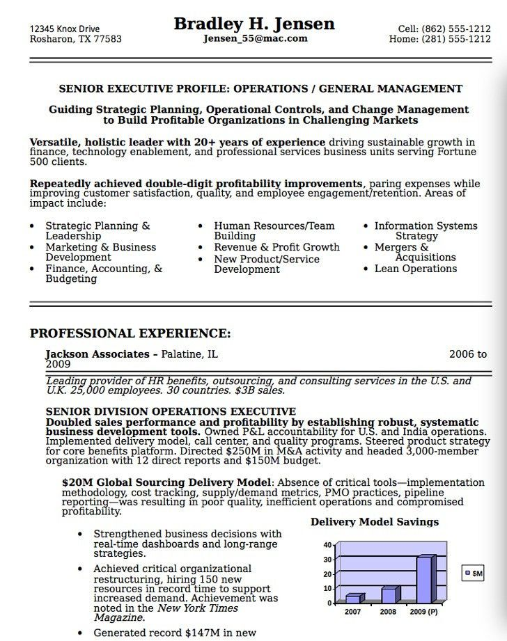 Senior Resume Examples Resume Sample 8 Senior Executive Resume - senior executive resume