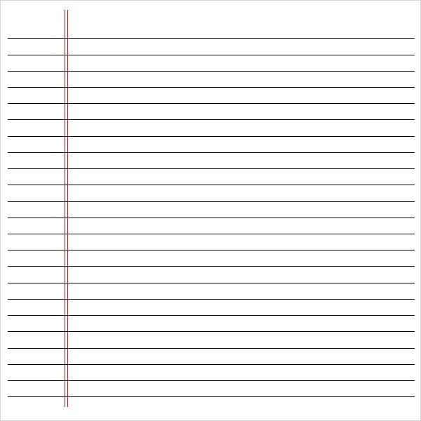 Notebook Template For Word table of content 10 free word – Lined Paper Word