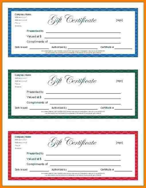 Open Office Gift Certificate Template