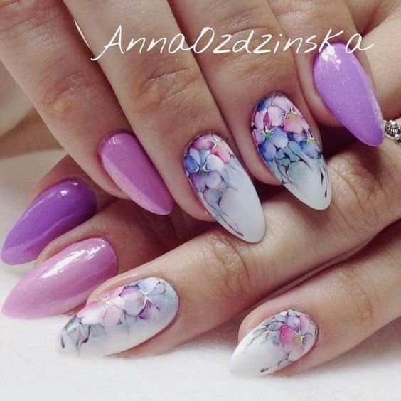 Easy Flowers Nail Art Designs – 100 pictures – Our Nail