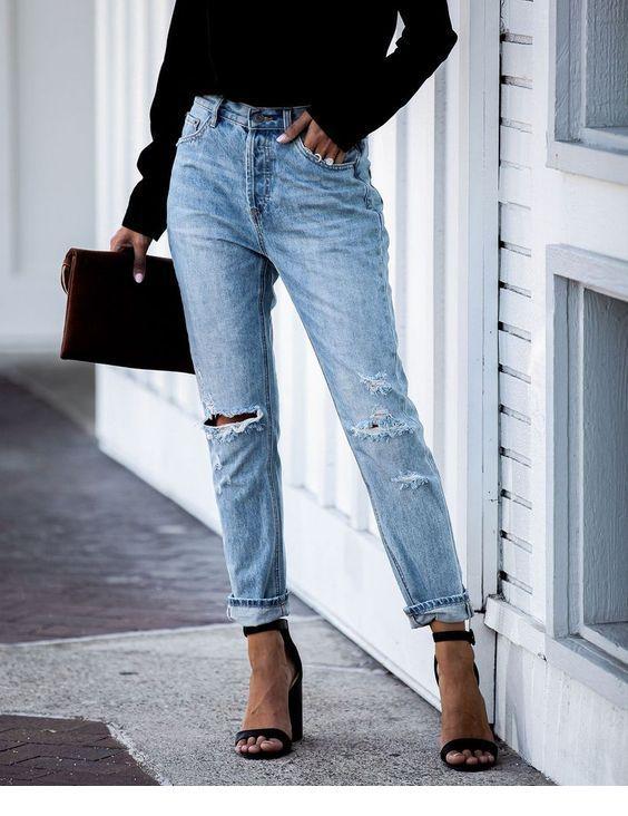 Wear jeans with black