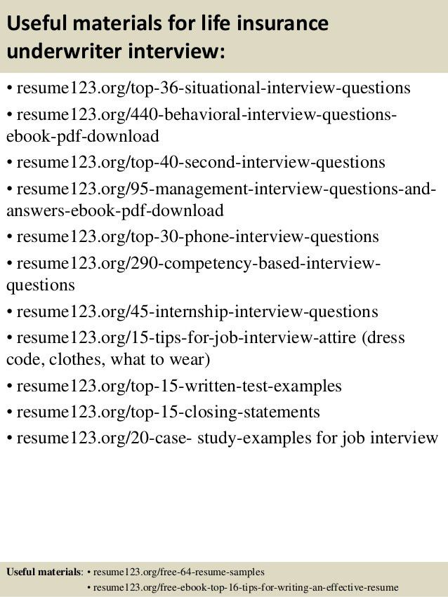 Underwriter Resume Examples - Examples of Resumes