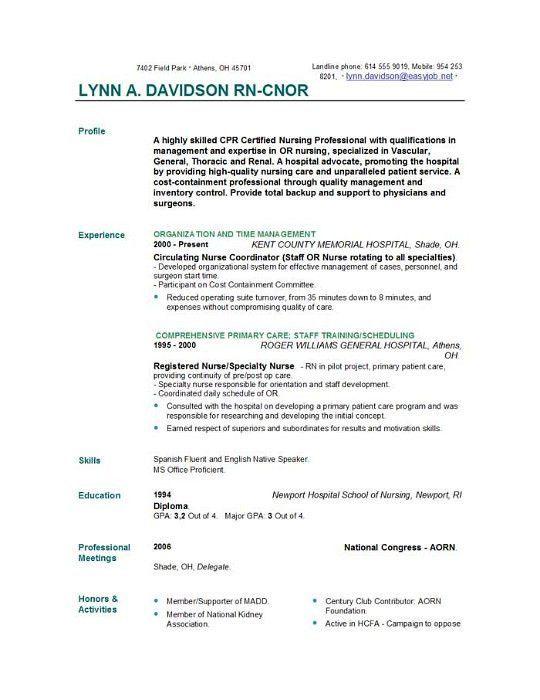 Nurse Resumes Samples New Registered Nurse Resume Sample Sample