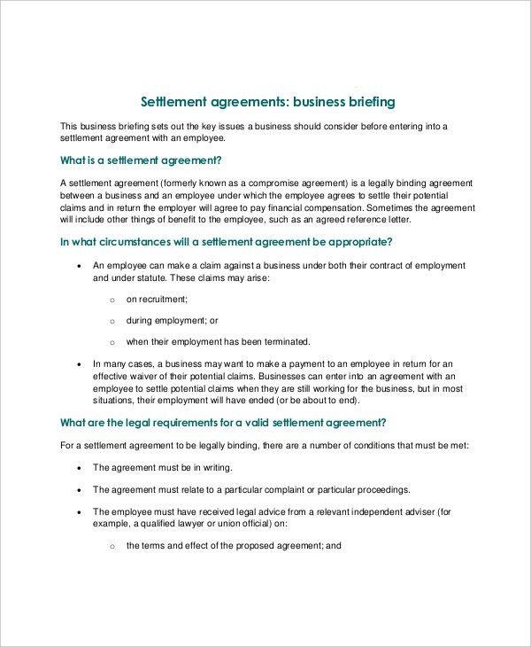 Sample03gif - settlement agreement template