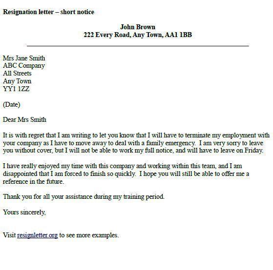 Employer Resignation Letter To Employee Employee Resignation - resignation letters no notice