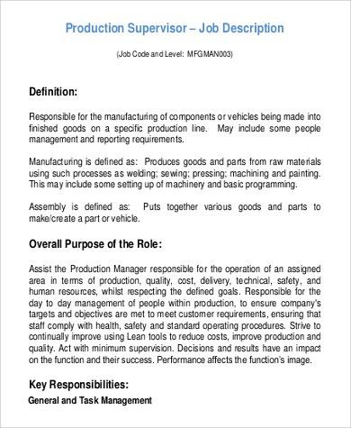 Assembly Line Job Description 10 Assembler Job Description For - carpenter job description