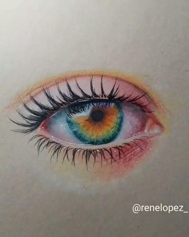 Amazing eye drawing by Rene Lopez (@renelopez_)
