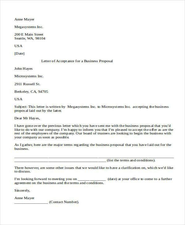 A Business Proposal Letter 32 Sample Business Proposal Letters - business proposal letter sample