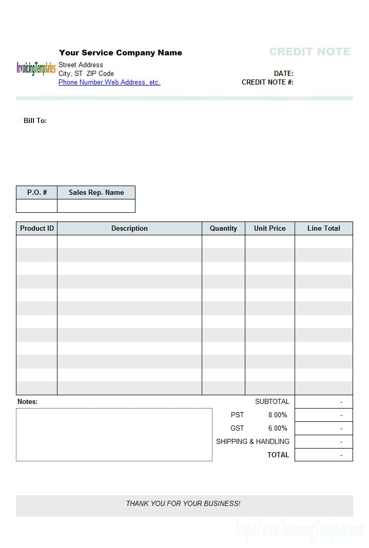 Credit note template 8 free word pdf documents download free - sample credit memo
