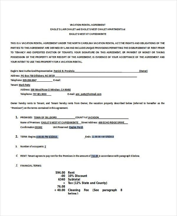 12+ house rental agreement template Survey Template Words