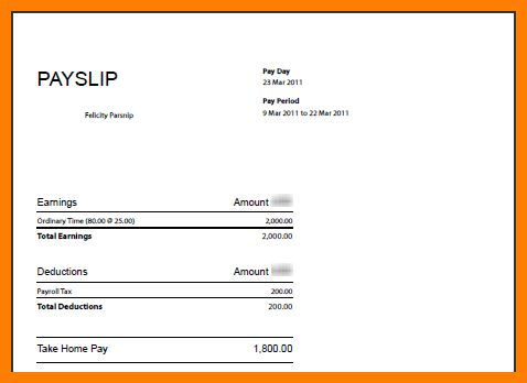 Free Wage Slip Template 6 Payslip Templates Word Excel Pdf - payroll slip template excel