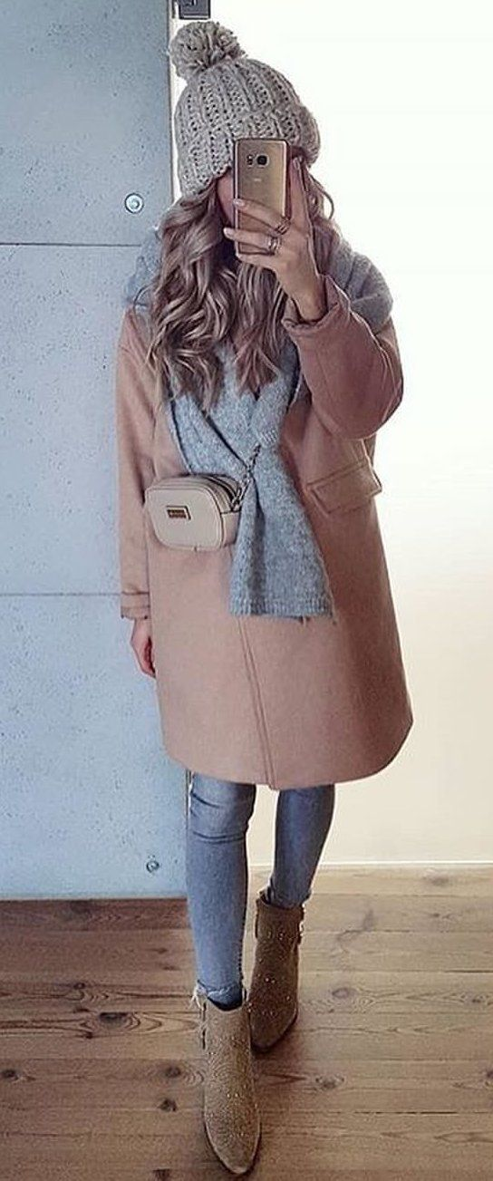 brown long coat #spring #outfits