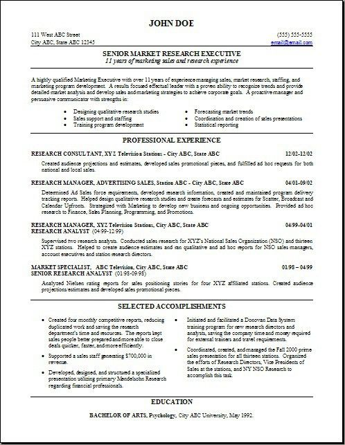 Market Research Analyst Resume Sample Market Research Analyst