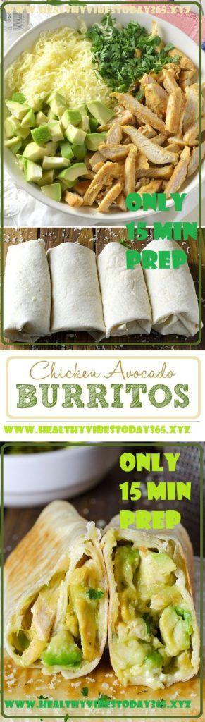 Delicious Chicken Avocado Burritos (Only 15 min prep)