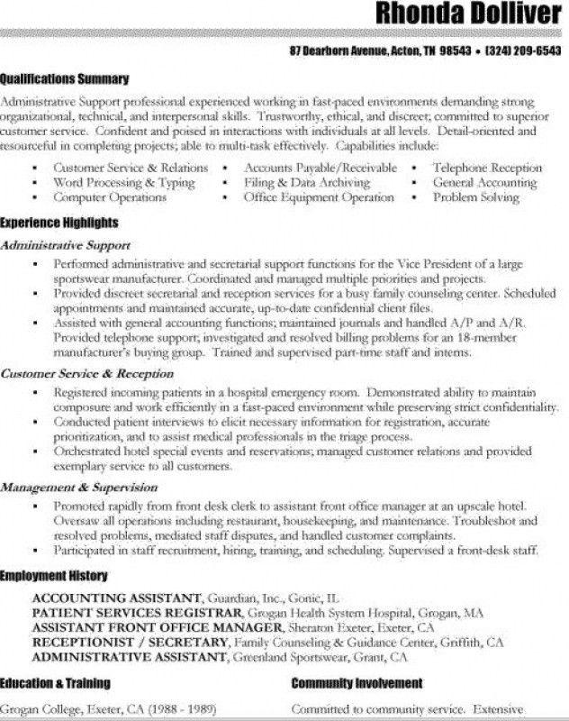 Summary Of Skills Resume Example How To Write A Summary Of - skills based resume template word