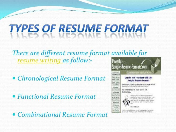 different resume formats resume sample - Different Formats For Resumes