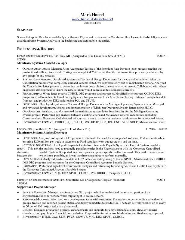 mainframe architect sample resume functional architect sample application - Mainframe Architect Sample Resume