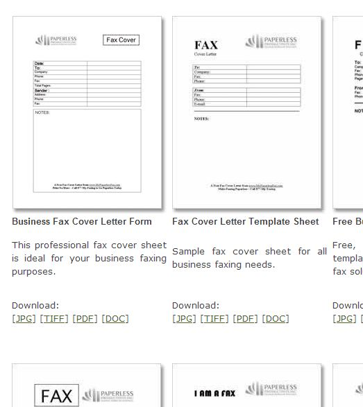 fax cover sheet download free pdf