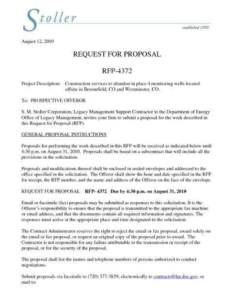 Bid Proposals Proposal Template 6 Best