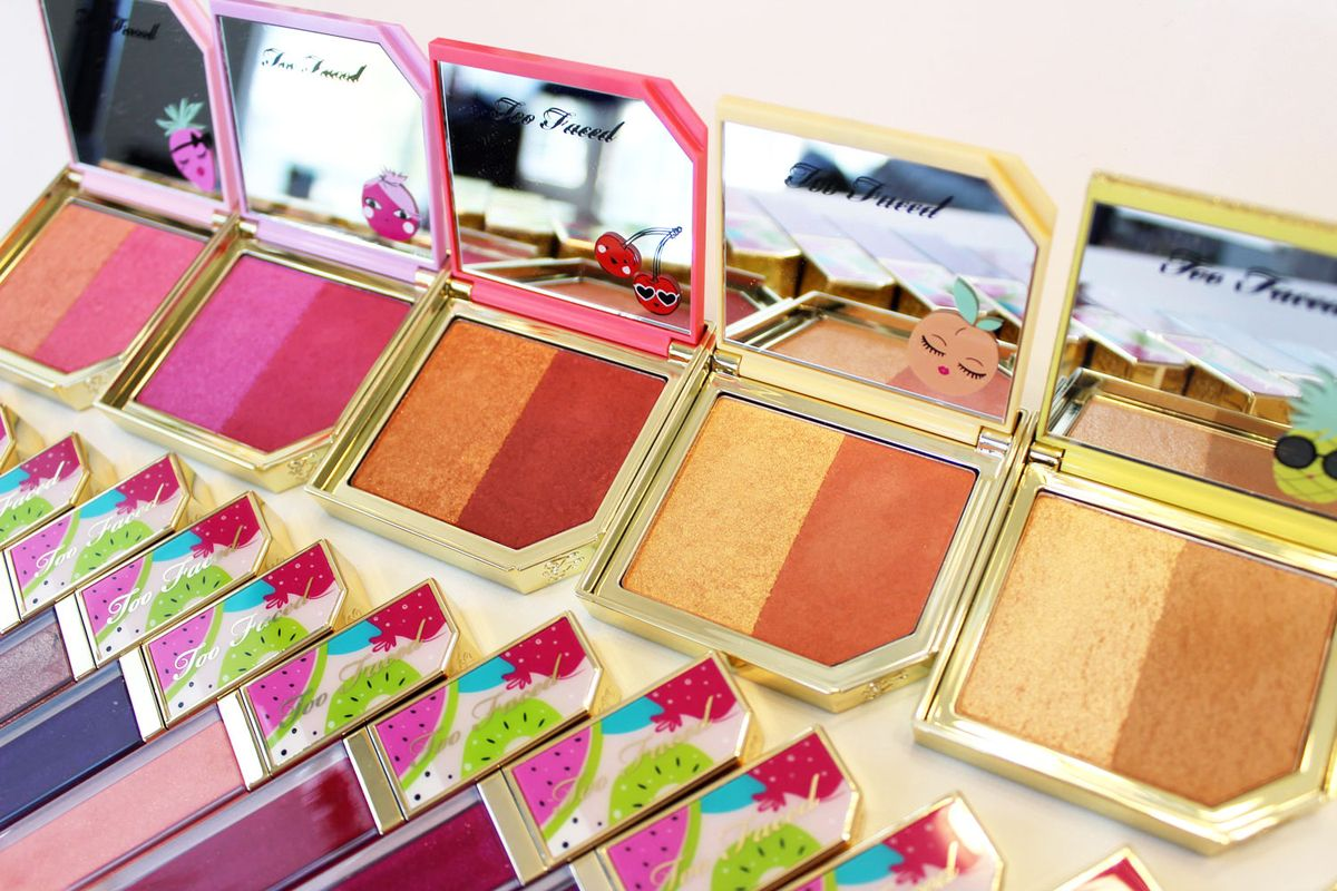 Too Faced Tutti Frutti Cocktail Blush Duo and Bronzer Highlighting Duo review and swatches #makeup #beauty #crueltyfree #toofaced
