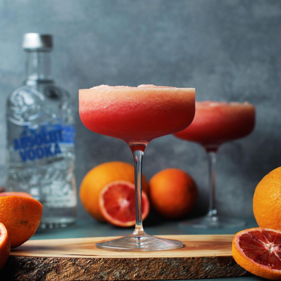 Blood Orange Sorbet Pornstar Martini