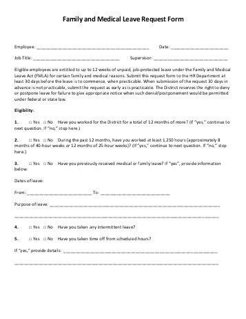 Leave Request Form Sample Sample Leave Request Form 8 Examples In - medical clearance forms