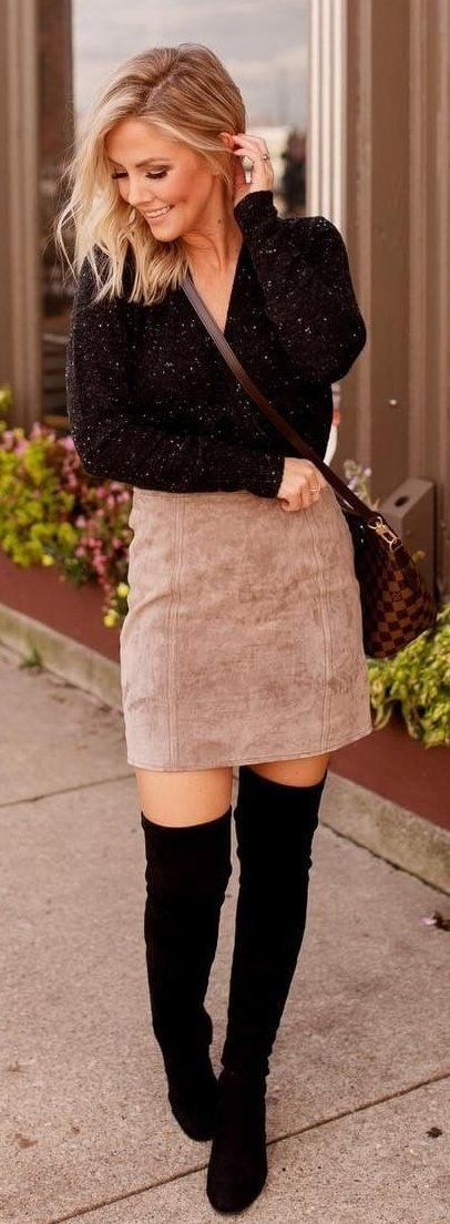 brown miniskirt