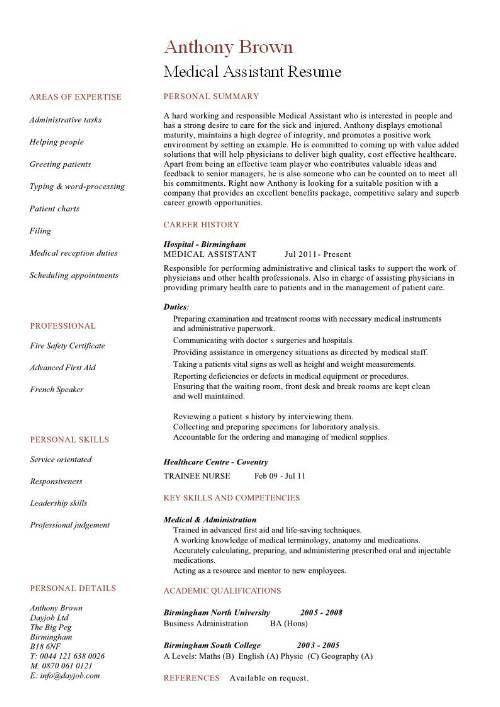 Sample Medical Assistant Resume 16 Free Medical Assistant Resume - medical assistant thank you letter