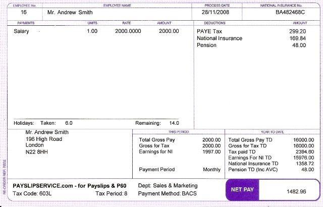 Salary Slip Online Online Pifra Salary Payroll Email Register For - payroll slip template excel