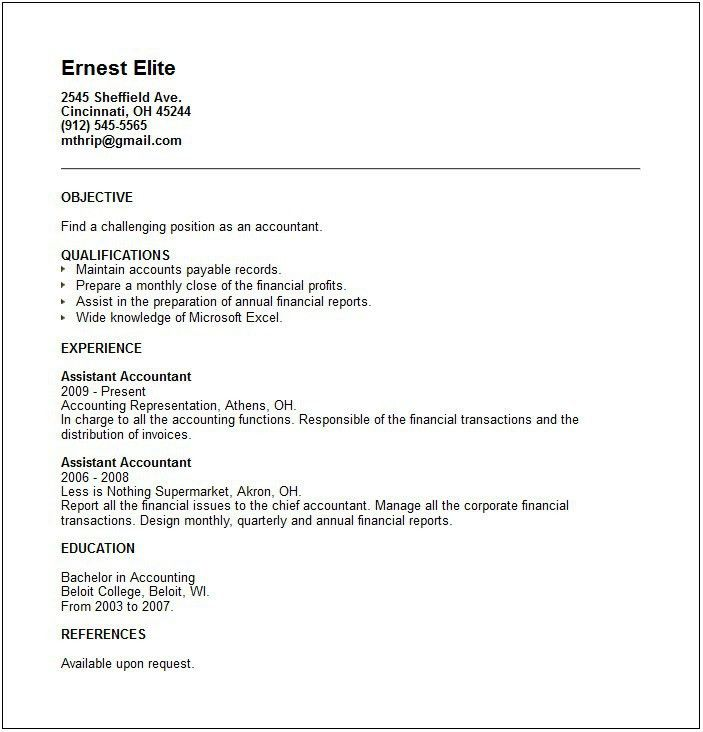 Chief Accountant Cover Letter | Node494 Cvresume.cloud.unispace.io