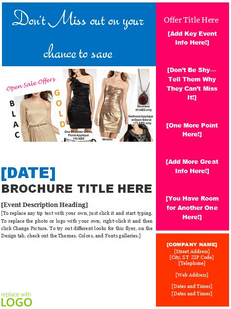 brochure template word free