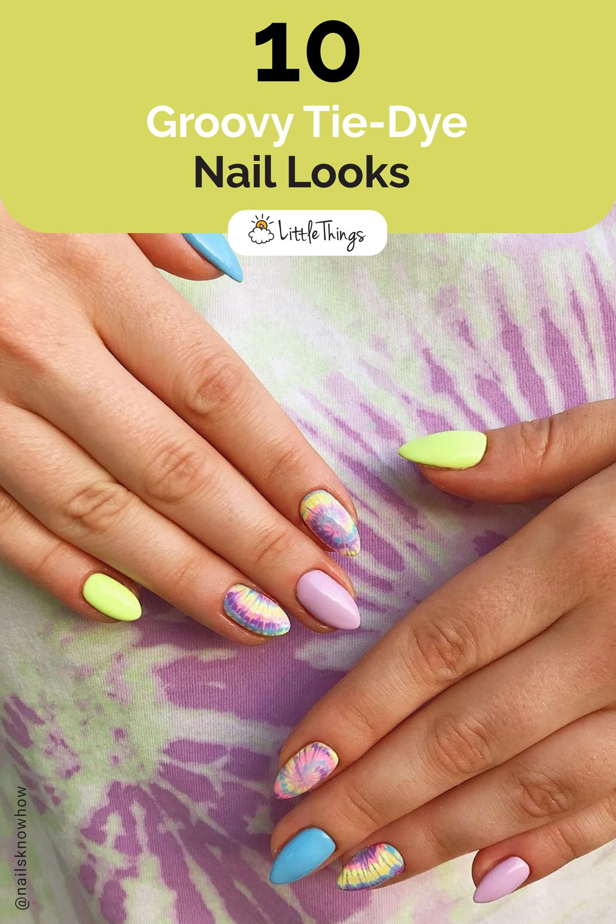 10 Groovy Tie-Dye Nail Looks: While #nails play an important role for women to express their femininity, check out these tie-dye #naildesigns that are becoming trendy amongst #celebrities and will simply make you fall in love with tie-dye all over again.