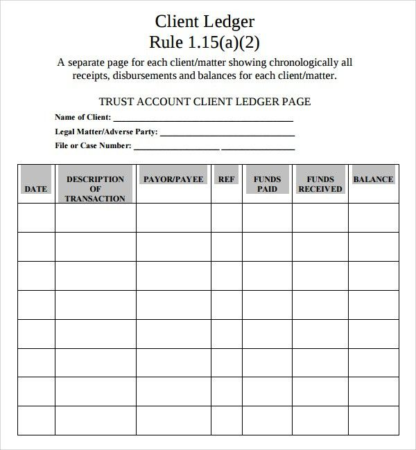 ... Account Ledger Template General Ledger Sheet Template Double   Ledger  Template Free ...  Printable Ledger Pages