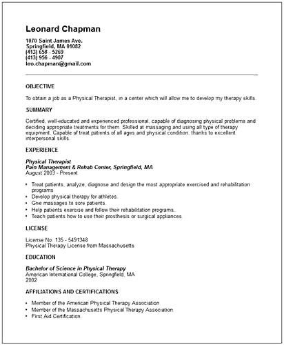 sample pta resume pta resume cv cover letter physical therapy