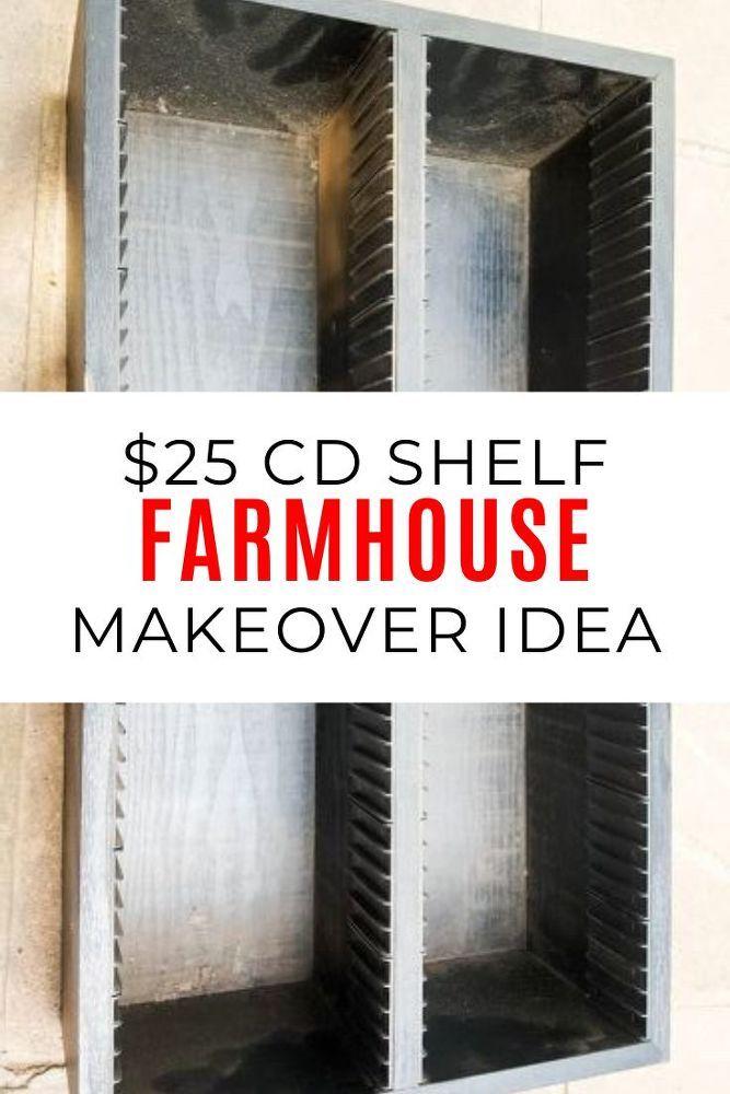 DIY CD Rack Farmhouse Decor Makeover Idea