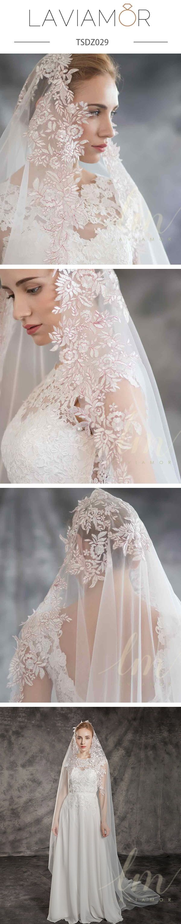 Wedding accessories and wedding hairstyles idea,This gorgeous lace veil is made with soft tulle. Unique long wedding veil accented with incredibly romantic lace appliques.Handmade scalloped lace embellishments#veil #weddingveil#bridalveil #bridalveils #cathedralveil #laceveil #justengaged #bridetobe2019 #weddingseason #weddingideas #weddinginspiration #weddings #brides #bridalparty #weddingtrends #weddingday #laviamor