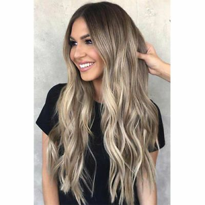 """Ombre Blonde Brazilian 100% Real Human Hair Wigs Lace Front Full Lace Wigs 24"""" 