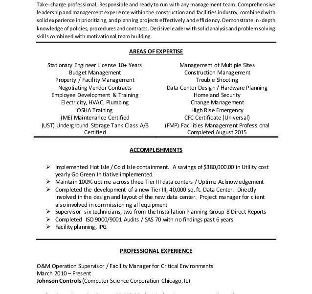 Building Manager Resume Facilities Manager Resume Property  Facility Manager Resume