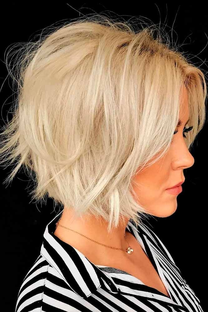 Short Shaggy Bob #blondehairstyle #bobhairstyles #shaggyhair ★ Bob haircuts will never lose their popularity. Whether short or long, angled or stacked, straight or wavy, a bob looks awesome. #glaminati #lifestyle #bobhaircuts
