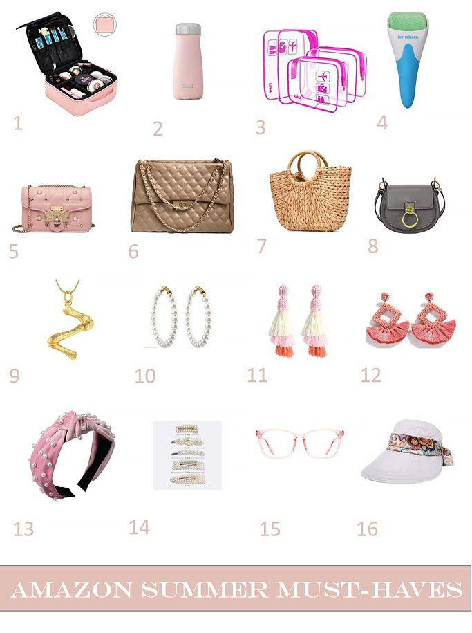 Summer Must-Haves from Amazon – including Beauty, Travel, Jewelry and other essentials for Summer 2019. Featuring three designer dupe handbags.