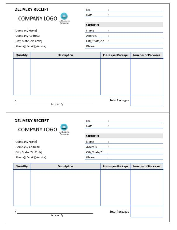... Hand Delivery Receipt Template Delivery Receipt Template 10 Free    Delivery Order Template ...  Hand Delivery Receipt