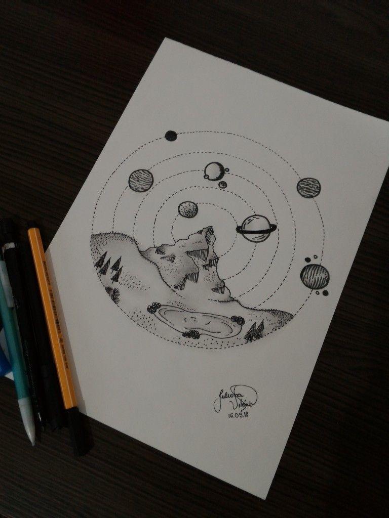 Desenho Sistema Planetas Draw Desenhos Fofos Tumblr Desenhos