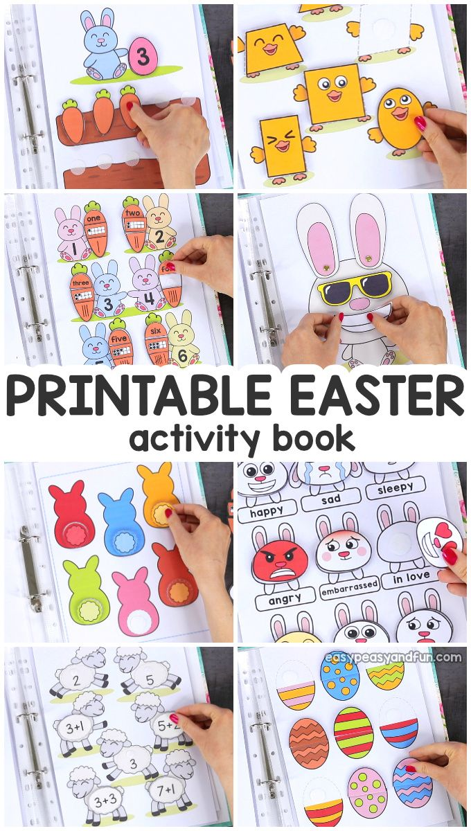 Printable Easter Quiet Book – Activity Book for Pre-K and K
