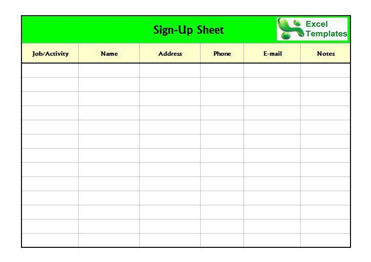 Sign Up Sheet Template Word Sign Up Sheet Template 18 Download - email sign up sheet template word